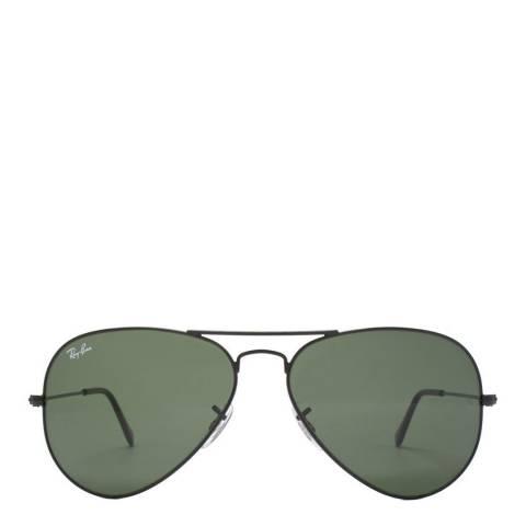 Ray-Ban Black Men Aviator Ray Ban Sunglasses 58mm