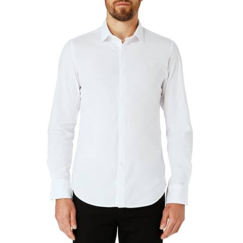Replay White Basic Cotton Shirt
