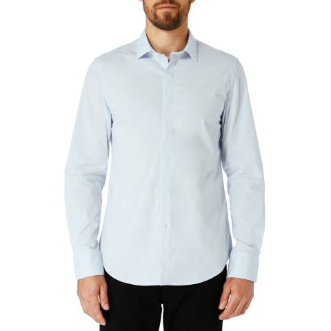 Replay Blue Basic Cotton Shirt