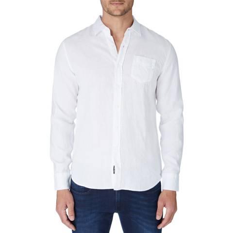 Replay White Linen Shirt