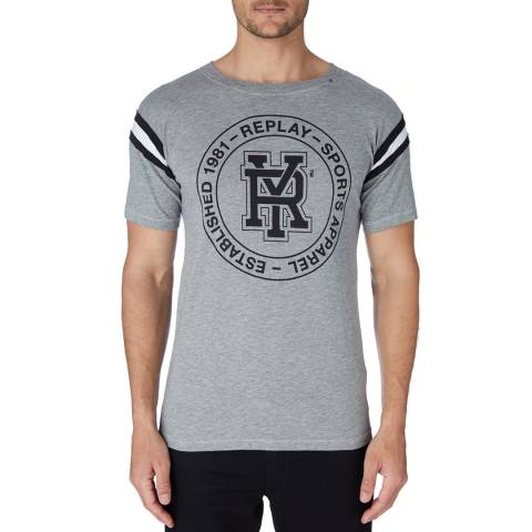 Replay Grey Logo Sports T-Shirt