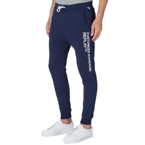 Replay Blue Icons Logo Sweatpants