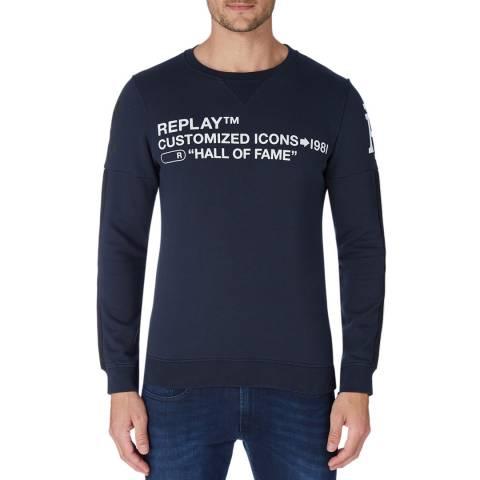 Replay Blue Icons Logo Sweatshirt