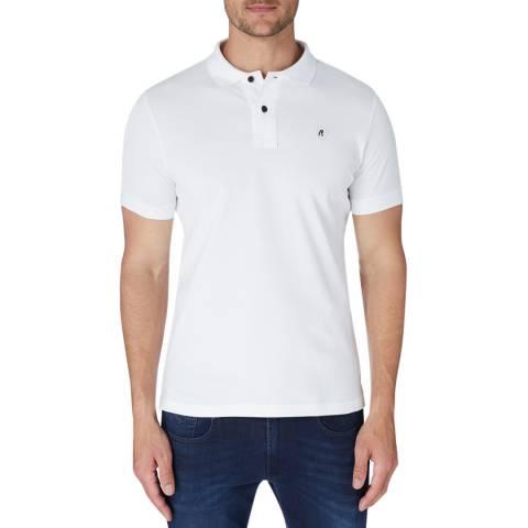 Replay White Basic Logo Polo Top