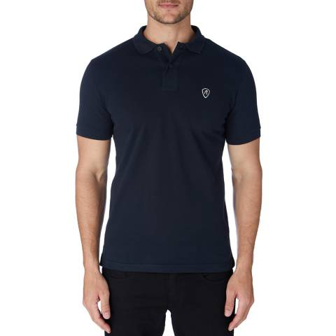 Replay Navy Basic Logo Polo Shirt