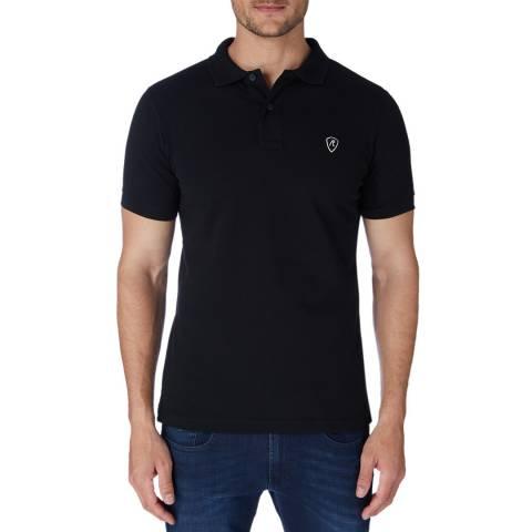 Replay Black Basic Logo Polo Shirt