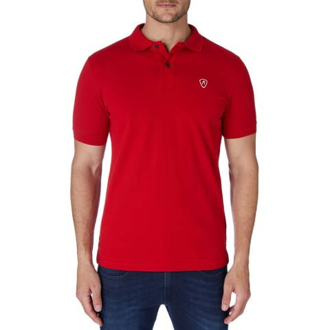 Replay Red Basic Logo Polo Top