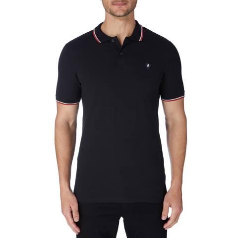Replay Black Patch Logo Polo Shirt
