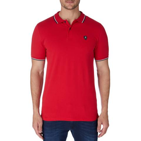 Replay Red Patch Logo Polo Shirt