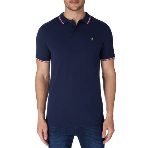 Replay Blue Patch Logo Polo Shirt