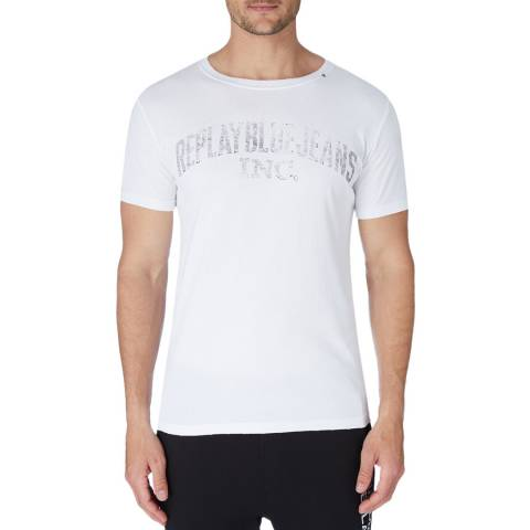 Replay White Vintage Jeans T-Shirt