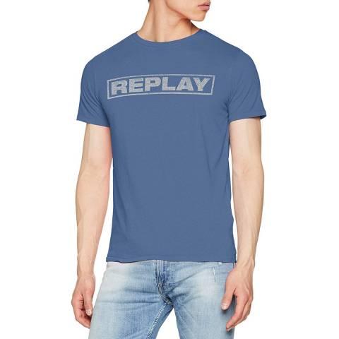 Replay Dark Blue Square Logo T-Shirt