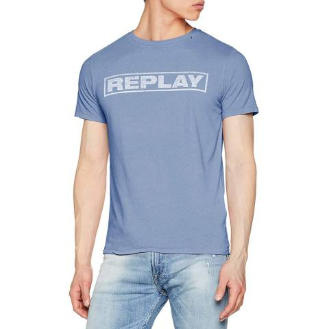 Replay Blue Square Logo T-Shirt