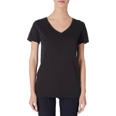 Replay Black V-Neck TShirt