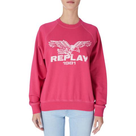 Replay Pink Logo Sweatshirt
