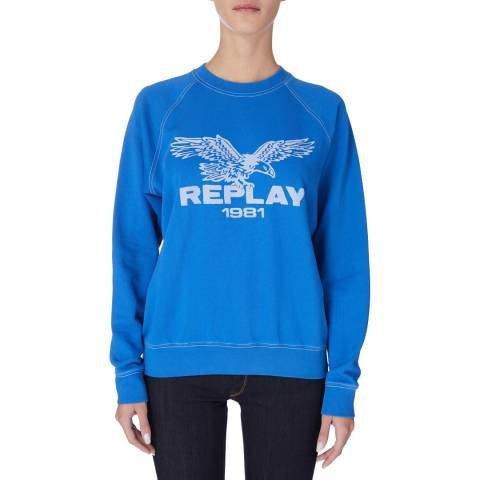 Replay Blue Logo Sweatshirt