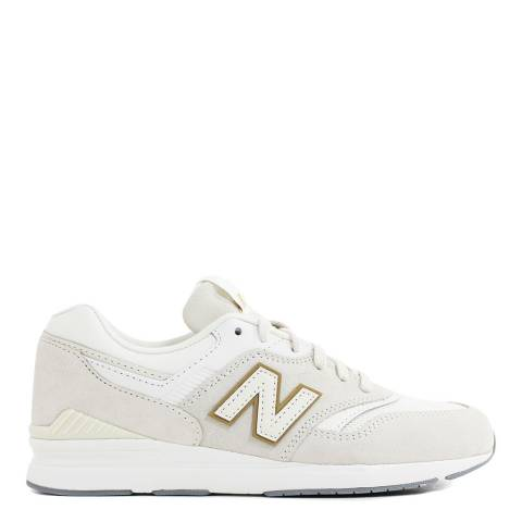 New Balance Cream Suede 697 Sneakers
