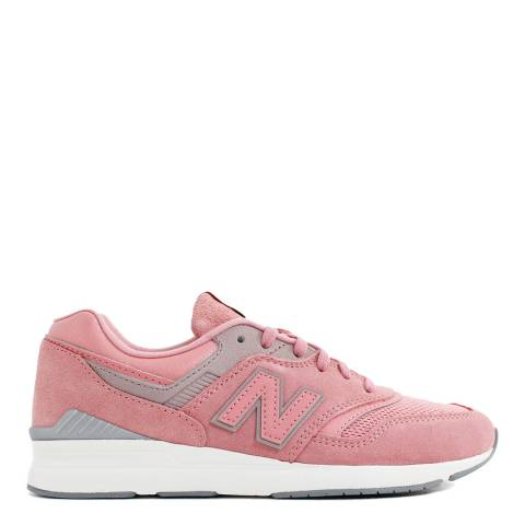 New Balance Pink Suede 697 Retro Sneakers