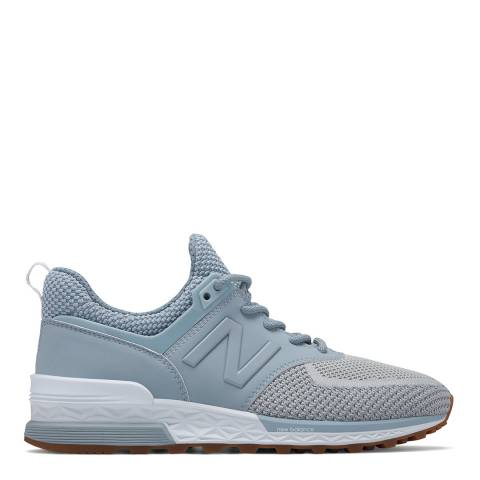 New Balance Blue Mesh 574 Sport Sneakers