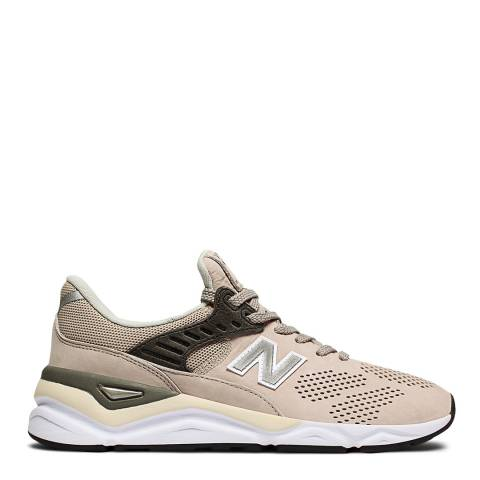 New Balance Beige Leather X90 Sneakers