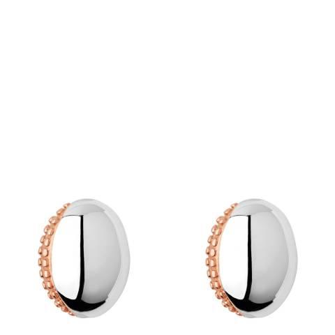 Links of London Rose Gold Masquarade Oval Stud Earrings