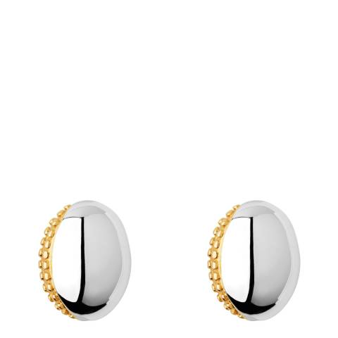 Links of London Yellow Gold Masquarade Oval Stud Earrings