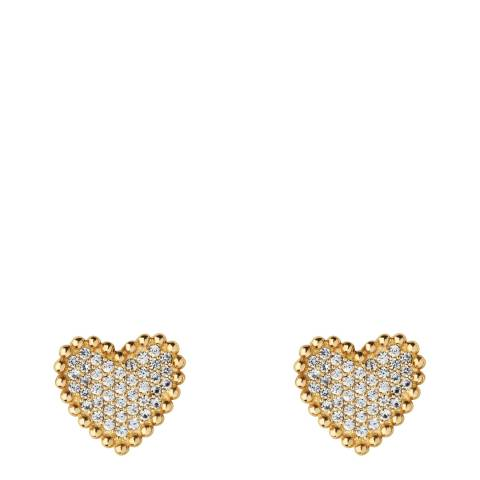 Links of London Yellow Gold Pure Heart Earrings