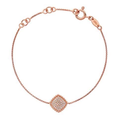 Links of London Rose Gold Pure Square Bracelet