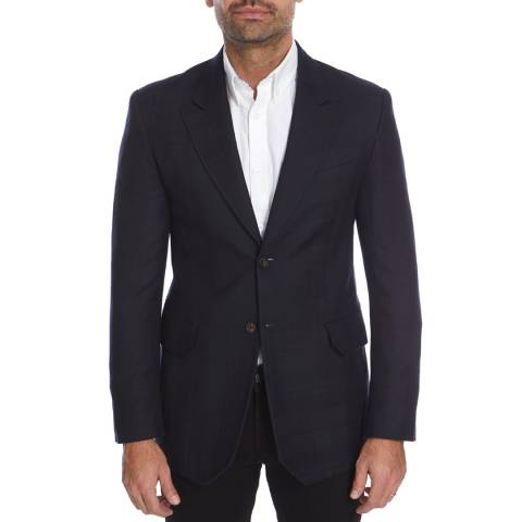 Vivienne Westwood Navy Check Gable Regular Wool Jacket
