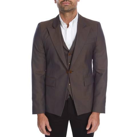 Vivienne Westwood Blue/Brown Check Evening Wool Waistcoat Jacket