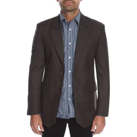 Vivienne Westwood Brown Check Gable Regular Wool Jacket
