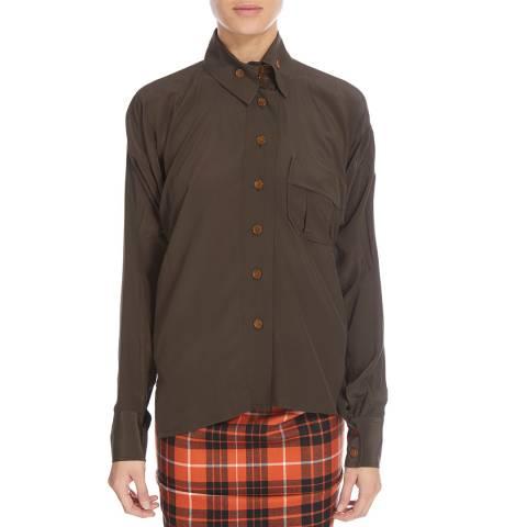 Vivienne Westwood Mud Squiggle Krall Silk Shirt