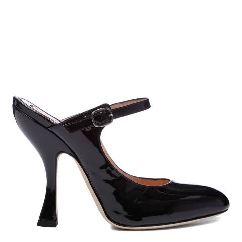 Vivienne Westwood Black Leather Sabot Renaissance Patent Heels
