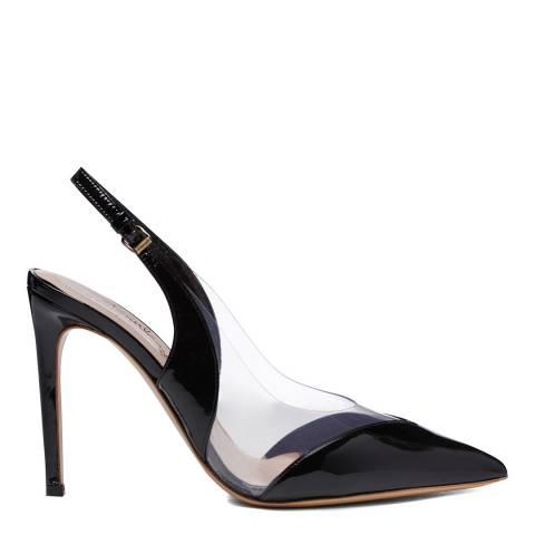 Vivienne Westwood Black Patent Leather Caruska Slingback Court Shoes
