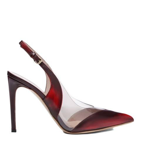 Vivienne Westwood Red/Smokey Leather Caruska Slingback Court Shoes