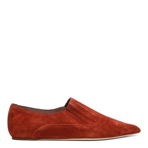 Vivienne Westwood Rust Suede Pinched Pointed Shoes