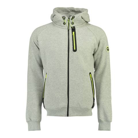 Canadian Peak Grey Fidel Hooded Sweat