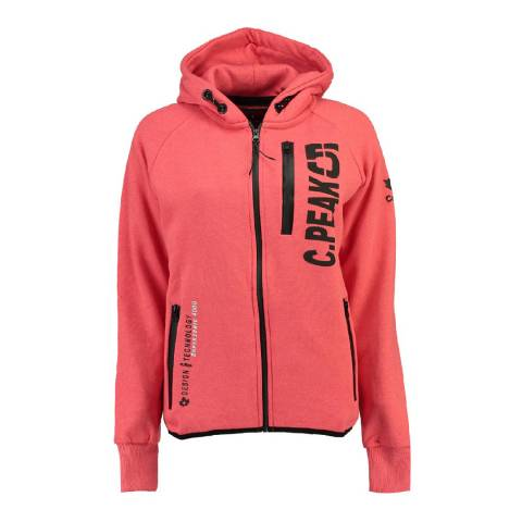 Canadian Peak Coral Golapeak Sweat With Hood