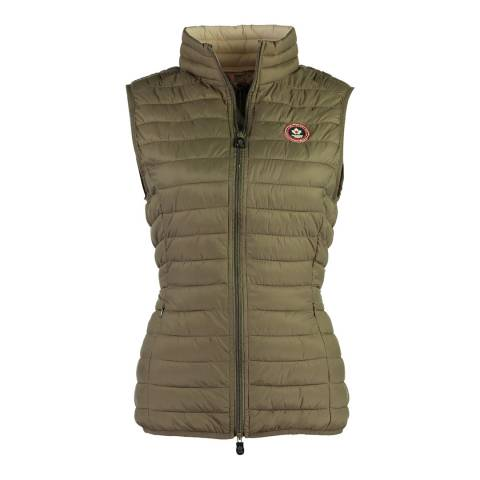 Canadian Peak Taupe Vamilay Basic Quilted Gilet