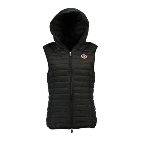 Canadian Peak Black Vamilay Hood Quilted Gilet With Hood