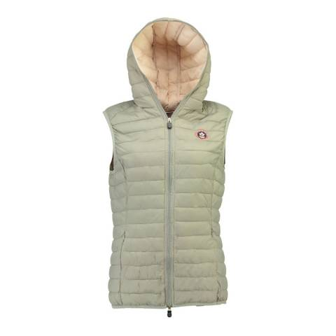 Canadian Peak Light Grey Vamilay Hood Quilted Gilet With Hood