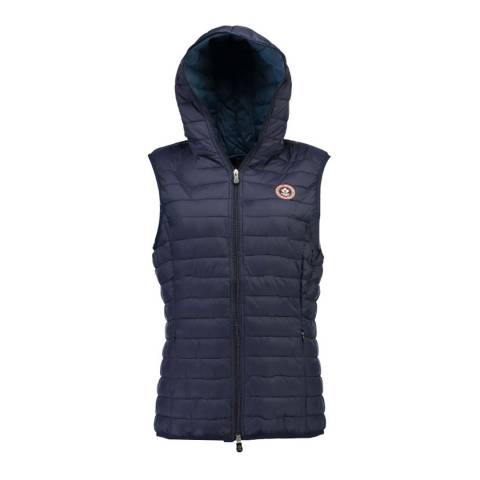 Canadian Peak Navy Vamilay Hood Quilted Gilet With Hood