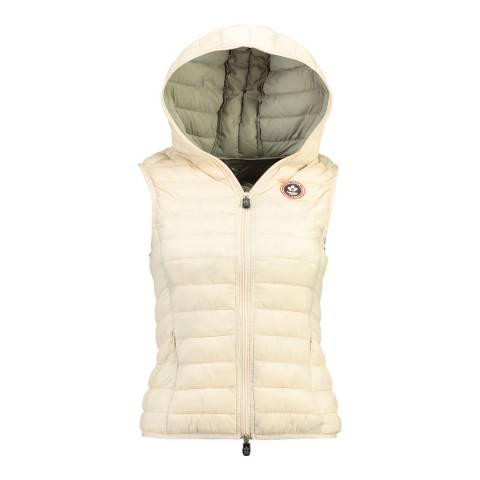 Canadian Peak Pink Vamilay Hood Quilted Gilet With Hood