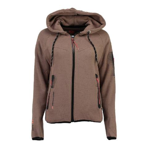 Canadian Peak Taupe Fanatic Sweat With Hood