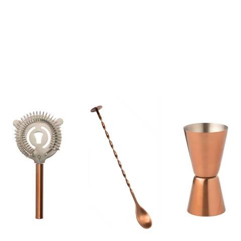 EDDINGTONS 3-Piece Copper Classic Cocktail Kit