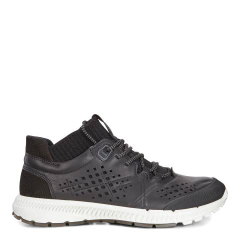 ECCO Black Leather Intrinsic TR Sneakers