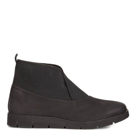 ECCO Black Leather Bella Ankle Boots