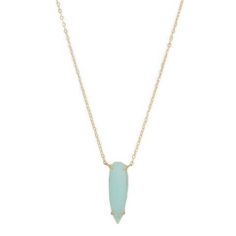 Liv Oliver 18K Gold/ Sea Green Necklace