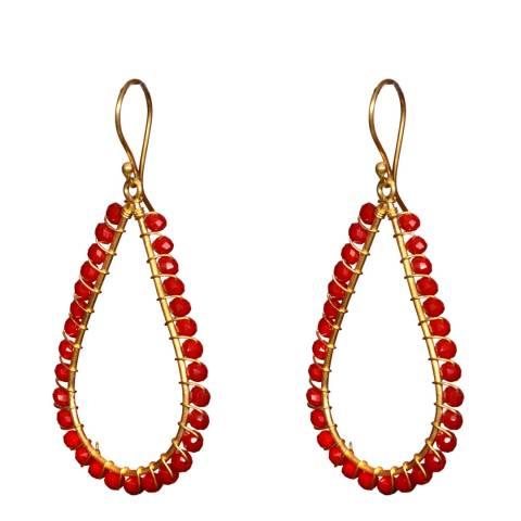 Liv Oliver Ruby Pear Earrings
