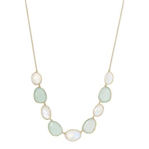 Liv Oliver Gold Moonstone and Chalcedony Necklace